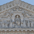 Statues on the facade of notre dame de fourviere — Stock Photo