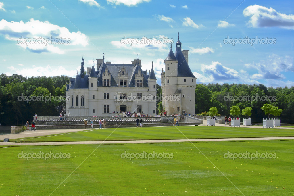 The chateau of Chenonceau  in the Loire Valley — Stock Photo #18684523