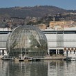 The Biosphere in Ancient Harbour of Genoa — Stock Photo