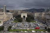 Piazza della vittoria a Genova — Foto Stock