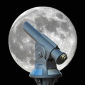 Looking at the Moon — Stock Photo