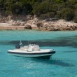 Stock Photo: Dinghy in Spargi