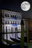 Ca Pesaro under Full Moon — Stock Photo