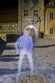 Ghost Boy on the pavement — Stock Photo