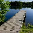 Stock Photo: Wooden Pier on Pond
