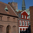 Stock Photo: Cityscape of Ribe, Denmark