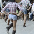 Cowgirls dancing — Stock Photo