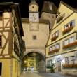 Night scene in Rothenburg ob der Tauber — Stock Photo