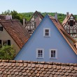 Ancient Houses in Rothenburg ob der Tauber — Stock Photo
