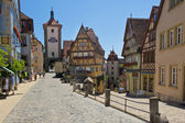 Ploenlein in Rothenburg ob der Tauber — Foto Stock
