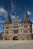 Holstentor in Lubeck — Stock Photo