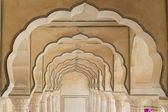 Arches at Amber Fort near Jaipur — Stock Photo