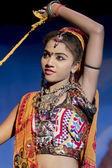 Traditional dressed Dancer in Khajuraho — Stock Photo