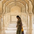 Постер, плакат: Indian Woman at the Amber Fort