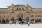 Ganesh Gate at Amber Fort near Jaipur — Stock Photo