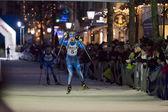 Biathlon Skier — Stock Photo