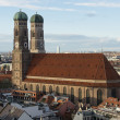 Aerial view of the Frauenkirche — Stock Photo