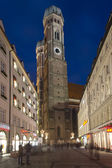 Towers of Frauenkirche in Munich by Night — Foto Stock