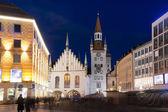 The Old Town Hall of Munich by Night — Stock Photo