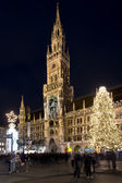 The New Town Hall of Munich by night — Fotografia Stock