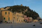 Yellow Houses in Varigotti — Stock Photo