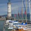 Lighthouse at entrance of Port of Lindau — Stock Photo #40299477