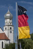 Church and German Flag — Stock Photo