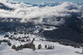 зимний пейзаж в доломиты — Стоковое фото