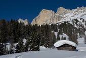 Chalet in the Dolomiti — Stock Photo