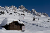 Chalet at Passo San Pellegrino — Stock Photo
