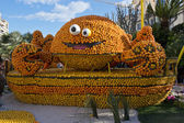 Citrus Exhibition at the Lemon Festival of Menton — Foto de Stock