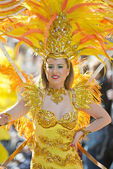 Dancer in the Lemon Festival Parade — Stock Photo