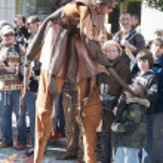 Masker in the Lemon Festival Parade — Stock Photo #42176825