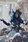 Masker in the Lemon Festival Parade — Stock Photo