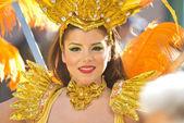 Dancer in the Lemon Festival Parade — Stock Photo