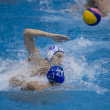 Tackle in a Water Polo Match — Stock Photo