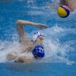 Tackle in a Water Polo Match — Стоковое фото