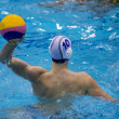 Throw in a Water Polo Match — Stok fotoğraf