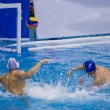 Throw in a Water Polo Match — Стоковое фото