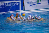 Water polo Team Pro Recco psyching up — Fotografia Stock
