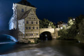 Old Town Hall in Bamberg by night — Stock Photo