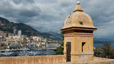 Fortification over the Port of Montecarlo — Stock Photo