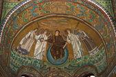Mosaic in San Vitale — Stock Photo