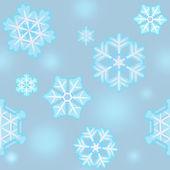 Christmas and New Year snowflake pattern seamless — Stock Photo