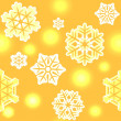 Christmas and New Year snowflake pattern seamless - Stock Photo