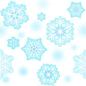 New Year snowflake pattern seamless — Stock Photo