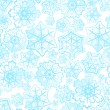 Seamless snowflake background — Stock Photo