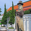 Chinese Giant Statue at Wat Pho Bangkok Thailand — Stock Photo