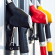 Fuel pumps in a gas station — Stock Photo #26519367
