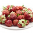 Red strawberrys on plate. Isolated — Foto de stock #27520385